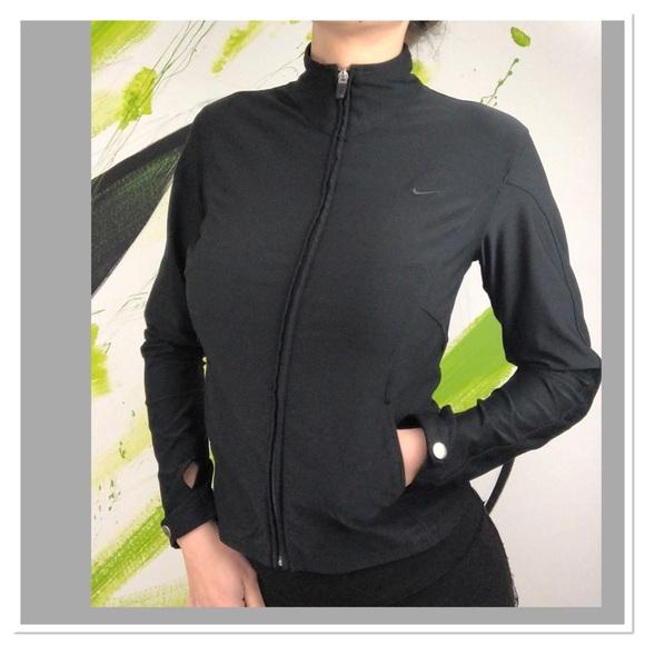innovative design 32bdc d834d Nike logo full zip Dri Fit black jacket moto. M 5bf1010e3c98442e6a44e249